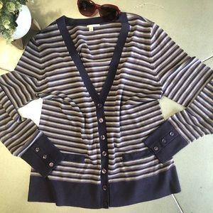 Halogen button down V neck Merino Wool Cardigan XL